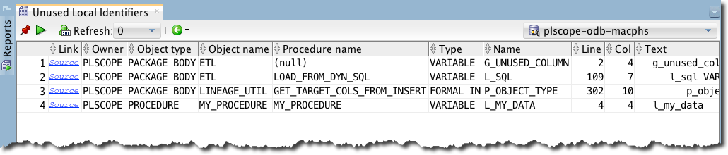 plscope-utils - Unused Local Identifiers